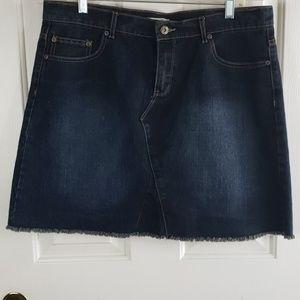 🌴Per Se• 12 skirt jean denim raw edge